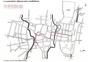 A villamosvasút útvonala